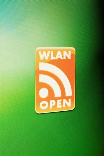 Screenshot, Computer Warning, Wlan open : Stock Photo