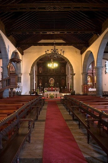 San Blas Church, Mazo, La Palma, Canary Islands, Spain, Europe : Stock Photo