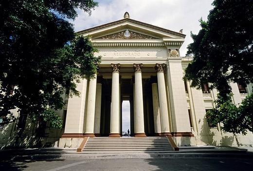 Stock Photo: 1848-28980 Universidad de La Habana, neo_classical portico, Rectorado, Vedado, Havana, Cuba, Caribbean