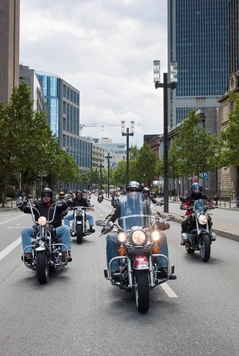 Stock Photo: 1848-29298 Motorcycle parade, Crime City Run, Frankfurt, Hesse, Germany, Europe