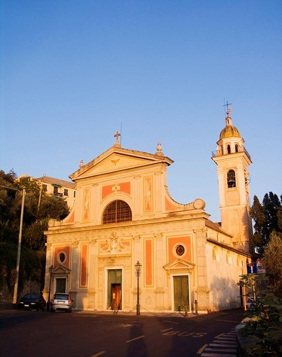 Stock Photo: 1848-30849 Baroque parish church, Sant´Ilario quarter, Genoa, Liguria, Italy, Europe
