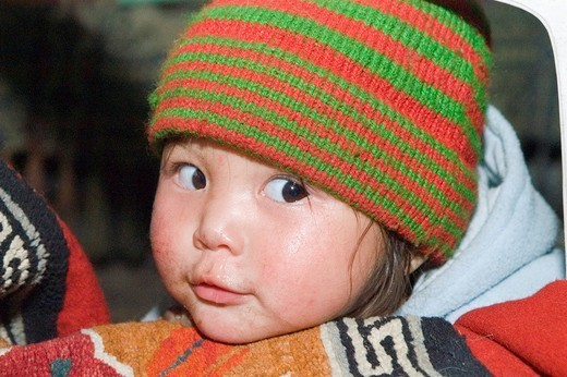 Child from Ladakh, Jammu and Kashmir, India : Stock Photo