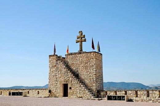 Sanctuary de la Vera Cruz, Santurio, sanctuary of the true cross, church, castle, museum, cross, Caravaca de la Cruz, sacred city, Murcia, Spain, Europe : Stock Photo
