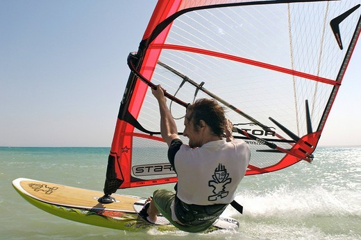 Windsurfer in Zaafarana, Gulf of Suez, Red Sea, Egypt, Africa : Stock Photo