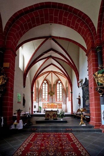 Stock Photo: 1848-31259 The The The The The The abbey of Sayn with the abbey church, Sayn, Koblenz Rhineland_Palatinate, Germany, Europe