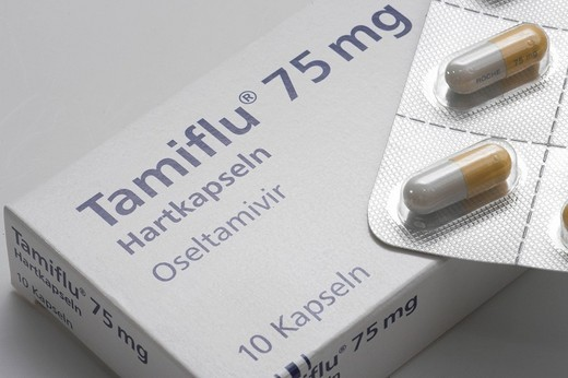 Stock Photo: 1848-31791 Tamiflu flu medicament from the Swiss company Roche