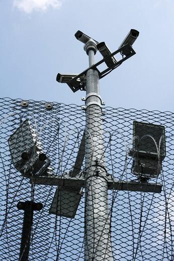 Stock Photo: 1848-31863 DEU, Germany, Rheinbach, 25.04.2006 : Federal Prison Rheinbach. Video surveillance. ,