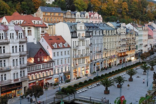 Stock Photo: 1848-31984 Historic old town of Karlsbad, Carlsbad, Karlovy Vary, west Bohemia, Czech republic