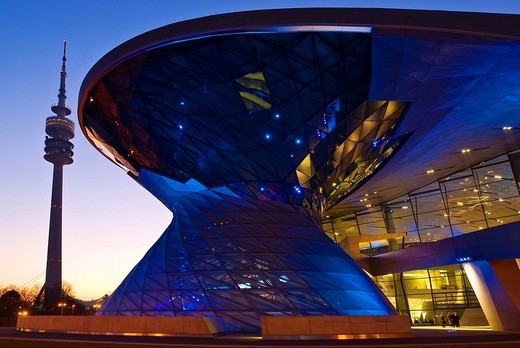 BMW Welt BMW World exhibition centre, Munich, Bavaria, Germany : Stock Photo