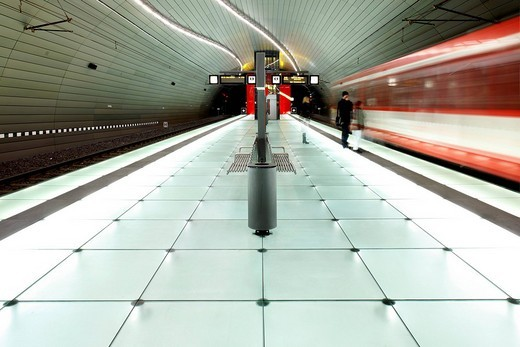 Stock Photo: 1848-32979 Lohring Underground Station, Bochum, North Rhine_Westphalia, Germany, Europe