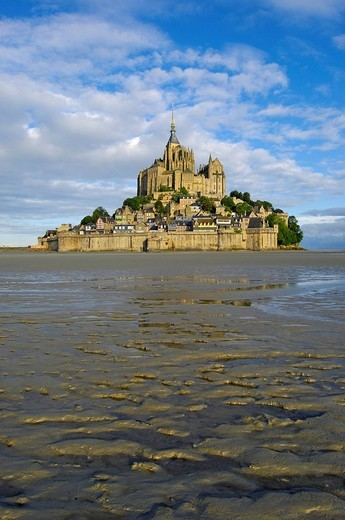 Mont_Saint_Michel, Benedictine abbey, Normandy, France, Europe : Stock Photo