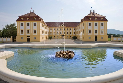 Stock Photo: 1848-34305 Schloss Hof Palace, Prince Eugene of Savoy´s Baroque palace, Marchfeld, Lower Austria, Europe