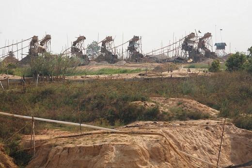 Diamond mine, Cempaka, South Kalimantan, Borneo, Indonesia, South_East Asia : Stock Photo