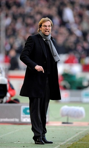 Stock Photo: 1848-35055 Coach Juergen Klopp, BVB Borussia Dortmund, angry at the sidelines