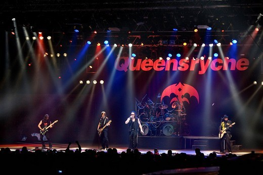 Stock Photo: 1848-35247 The American Progressive Metal band Queensryche live at Rock Sound Festival in Huttwil, Switzerland, Europe