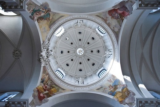 Cupola of the cathedral of Fulda, Fulda, Hesse, Germany : Stock Photo