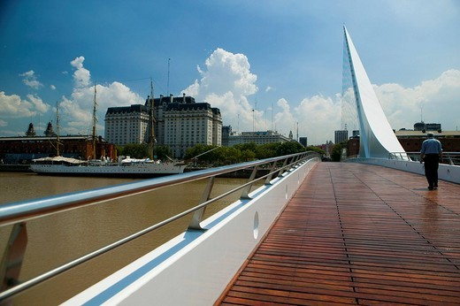 Womans Bridge, puente de las mujer, harbor, Buenos Aires, Argentina : Stock Photo