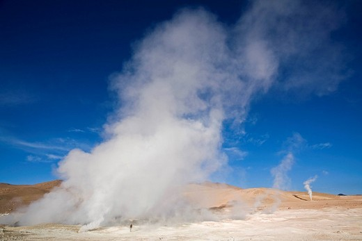 Stock Photo: 1848-36292 Geyser field Sol de Manana, Altiplano, Bolivia, South America