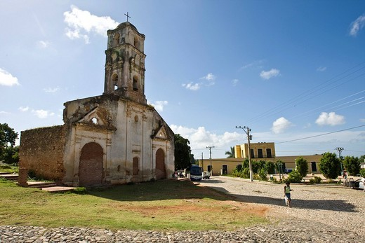 Ruins of a church in Trinidad, Sancti_Spíritus Province, Cuba, Latin America, America : Stock Photo