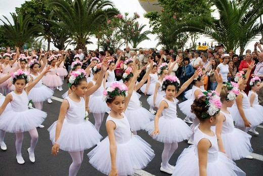 Stock Photo: 1848-38107 Ballet troupe interpreting Swan Lake during April Flower Festival in Funchal, Madeira, Portugal, Europe
