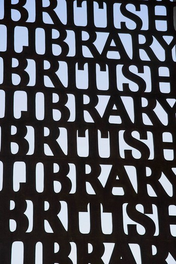 Entrance of the British Library, London, England, United Kingdom : Stock Photo