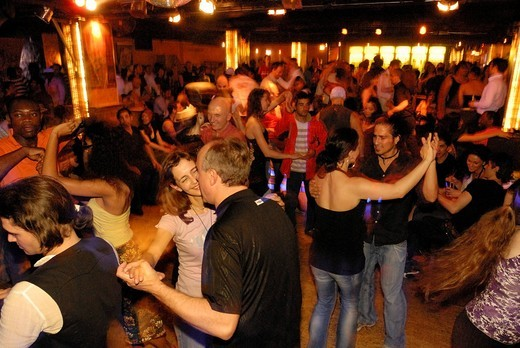 Stock Photo: 1848-400373 Salsa dancing in the Havanna Berlin salsa club, event location and discotheque in the Schoeneberg district, Berlin, Germany, Europe