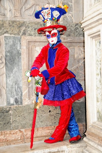 Mask, Carnevale, carnival in Venice, Veneto, Italy, Europe : Stock Photo