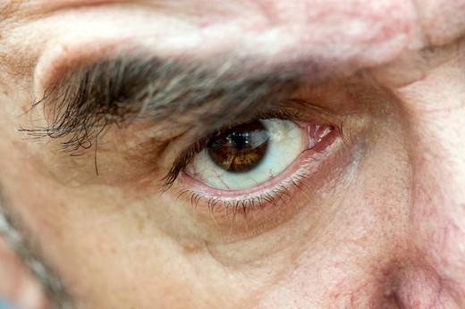 Close_up of a male eye : Stock Photo