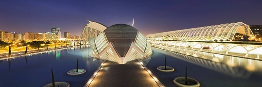 La Ciudad de las Artes y las Ciencias, Valencia, Comunidad Valencia, Spain, Europe : Stock Photo