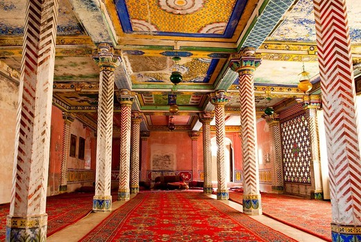 Grand hall, Juna Mahal, Dungarpur, Rajasthan, India, Asia : Stock Photo