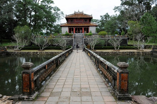 Stock Photo: 1848-400990 Minh Lau Pavilion, mausoleum of the Emperor Minh Mang, Hue, North Vietnam, Vietnam, Southeast Asia, Asia