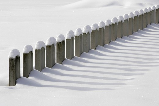 Headstones at Durnbach War Cemetry 1939 _ 1945, winter, snow, Upper Bavaria, Germany, Europa : Stock Photo