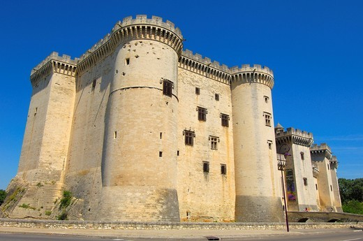 Stock Photo: 1848-401699 King René´s Castle, Tarascon, Bouches_du_Rhône, Provence, France, Europe