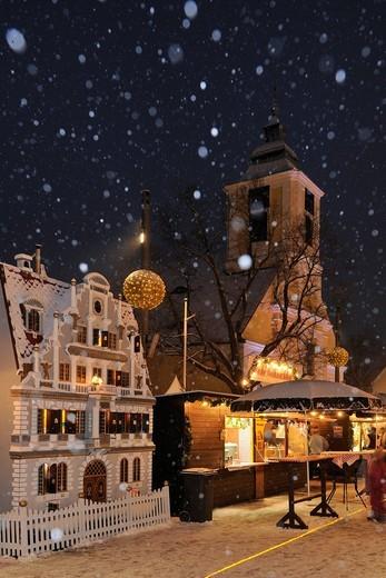 Christmas market, Leobersdorf, Triestingtal, Lower Austria, Austria, Europe : Stock Photo