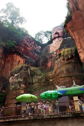 Stock Photo: 1848-4026 Leshan Giant Buddha, Leshan, China, Asia