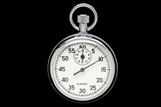 Stock Photo: 1848-402823 Silver stopwatch