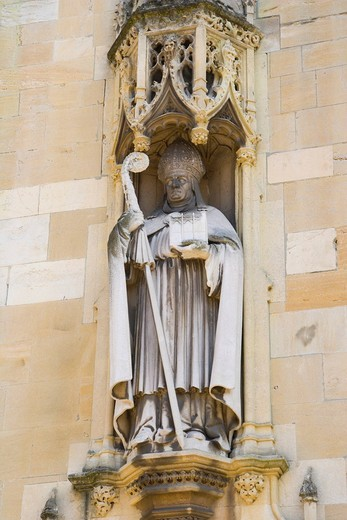 Stock Photo: 1848-402978 Sculpture on Eton College Chapel, Eton, Berkshire, England, United Kingdom, Europe