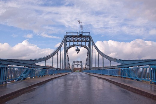 On the Kaiser Wilhelm Bruecke bridge, Wilhelmshaven, Lower Saxony, Germany, Europe : Stock Photo