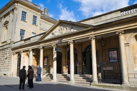 Stock Photo: 1848-404008 The Pump Room, The Roman Bath, Bath, Somerset, England, United Kingdom, Europe