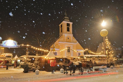 Christmas market, Leobersdorf, Triestingtal, Lower Austria, Austria, Europe : Stock Photo