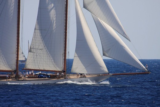 Stock Photo: 1848-404711 Historic sailing ship regatta at the Classic Week of the Yacht Club Monaco, Principality of Monaco, Côte d´Azur, Europe