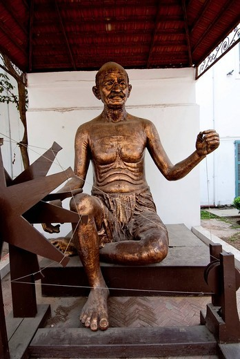 M. K. Gandhi statue at Gandhi Smriti, New Delhi, India, Asia : Stock Photo