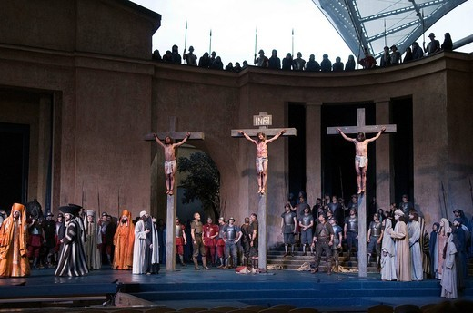 Stock Photo: 1848-405544 Passion Play 2010, Oberammergau, Bavaria, Germany, Europe