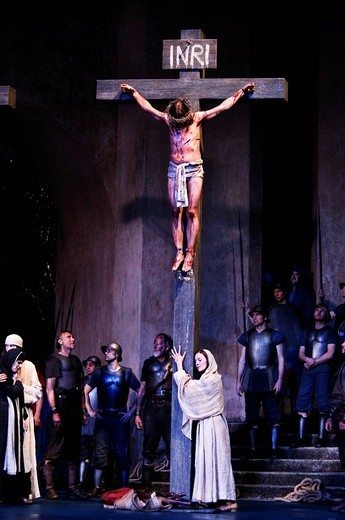 Passion Play 2010, Oberammergau, Bavaria, Germany, Europe : Stock Photo