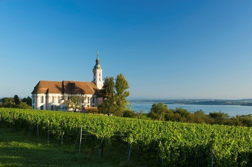 Stock Photo: 1848-405657 Wallfahrtskirche Birnau Marian pilgrimage church, Birnau, Lake Constance, Baden_Wuerttemberg, Germany, Europe