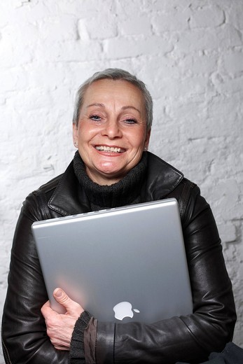Stock Photo: 1848-405733 Woman, Best Ager, with laptop