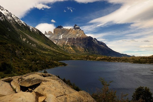 Torres del Paine Massif, Patagonia, Chile, South America : Stock Photo