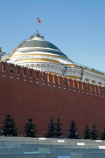 Red Square, Kremlin Wall, Moscow, Russia : Stock Photo