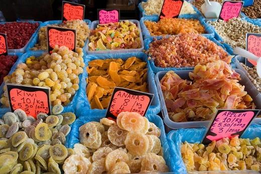 Stock Photo: 1848-406202 Market stall in front of Stadsschouwburg, Antwerp, Flanders, Belgium, Europe