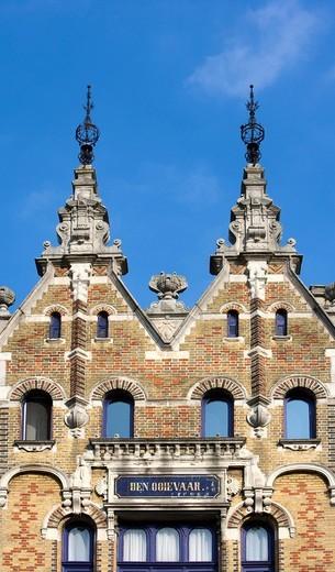 Stock Photo: 1848-406211 Architecture, detail, art nouveau, Berchem, Zurenborg, Cogels_Osylei, Transvaalstraat, Waterloostraat, Antwerp, Flanders, Belgium, Europe